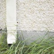 backfill cloth dig downspout drain drainage gutter material