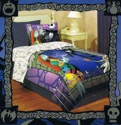 I found 'Save on Nightmare Before Christmas Jack Skellington and Sally Comforter Bedding Quilt online shopping from a greatest selection of Bedding & Bath.' on Wish, check it out!