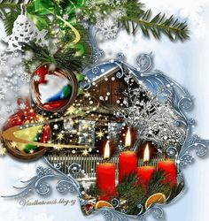 Christmas And New Year, Merry Christmas, Advent, Animation, Candles, Lights, Table Decorations, Winter, Home Decor