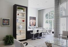 This eclectic space was designed by Boca Raton, FL-based Susan Lachance Interior Design. | See more: https://luxesource.com/resources/susan-lachance-interior-design?utm_source=pinterest. | #luxeFL
