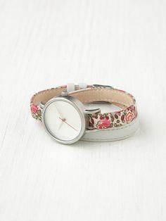 Tokyo Bay Petal Print Wrap Watch