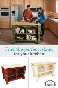 The right island for your kitchen can serve as more than just a nice visual. Prepare food, store items and even eat meals from the center of the most important room in your house! Find one that fits your kitchen space at Build.com today.