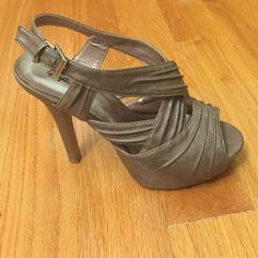 Olive Green heels Olive Green strappy heels Shoes Heels