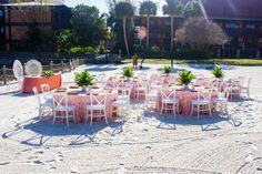Disney Fairy Tale Wedding Reception on Luau Beach