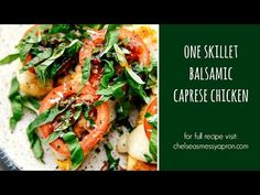 One Skillet Easy Balsamic Caprese Chicken (Video) | Chelsea's Messy Apron