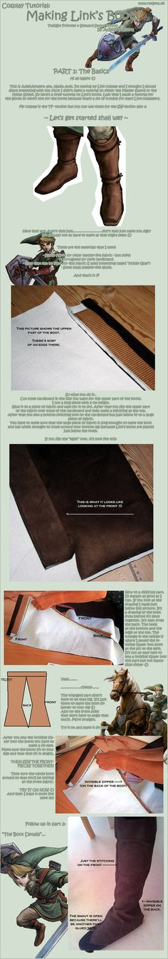 Tutorial: Link's Boots: Part 1 by ~Adlez-Axel on deviantART