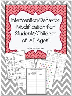 Behavior Intervention Plan Editable Forms And Data Sheets  Data