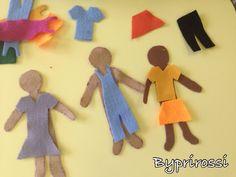Bonecos de feltro, troca roupinha! #preschool #educaçãoinfantil #jogos #classroom #byprirossi