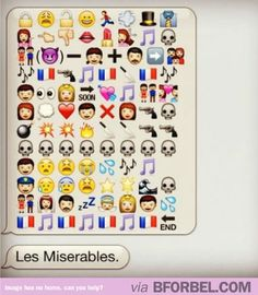 Les Miserables Explained In Emoticons…