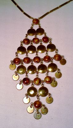 Vintage Boho Bib pendant necklace 1970's by WeeLambieVintage, $10.00