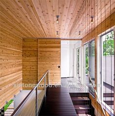 wooden walls House Design In New York Noyack Creek Farm By Bates Masi Architects Interior Stairs, Interior Barn Doors, Interior Balcony, Wooden Walls, Wooden Doors, Cedar Walls, Wooden Art, Modern Hall, Apartment Balconies