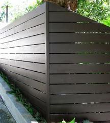 horizontal fence #backyard #frontyard idea