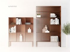 """In The Fog"" Shelving Feature A Gradient Of Circles"