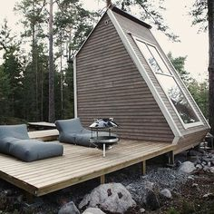 A Tiny Cabin In The Finnish Woods