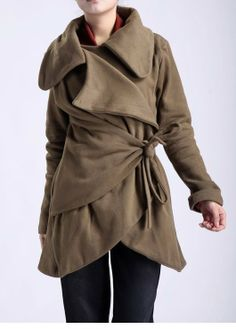 Yesterday is History/warm soft coat/3 colors/custom made. $89.00, via Etsy.