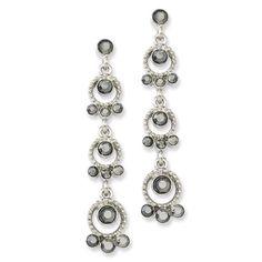 Silver-Tone Hematite Acrylic Stones Post Dangle Earrings: Jewelry: Amazon.com