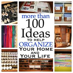 100+ Ideas to Help Organize Your Home and Your Life from Harvard Homemaker #organization