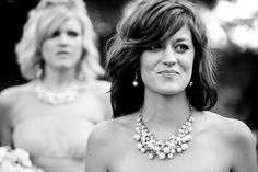 Great bridesmaid necklace and earrings
