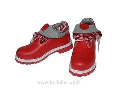 Timberland Femme Pas Cher Roll Top Bottes rouge