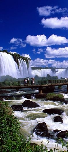 Iguazu Falls are waterfalls of the Iguazu River on the border of the Argentina ~ province of Misiones and the Brazilian
