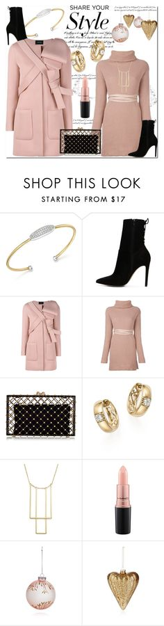 """""""Share Your Style: Pale Pink, Black & Gold"""" by helenaymangual ❤ liked on Polyvore featuring Bloomingdale's, ALDO, Simone Rocha, Valentino, Charlotte Olympia and MAC Cosmetics"""
