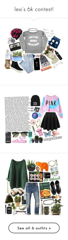 """lexi's 6k contest!"" by theweasleygirl ❤ liked on Polyvore featuring simplesetswithlex, Casetify, AG Adriano Goldschmied, Burt's Bees, Masquerade, Marc Jacobs, Coal, Accessorize, C Label and Eos"