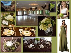 Olive green...the perfect wedding color   Let us help you with all the details for your perfect day! www.PerfectDayWeddingPlanners.com