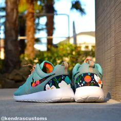 Roshe Floral Custom Made to Order Women's Nike by KendrasCustoms