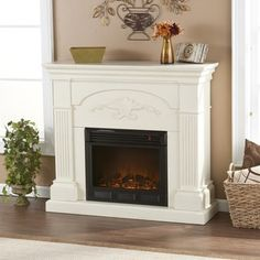 62 Quot Grand White Electric Fireplace At Big Lots Would Love