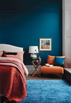 16 modern bedroom ideas you'll love – Home Decor İdeas Modern Bedroom Wall Colors, Bedroom Color Schemes, Home Decor Bedroom, Bedroom Ideas, Teal Bedroom Walls, Bedroom Modern, Teal Bedrooms, Teal Master Bedroom, Jewel Tone Bedroom