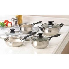 WANT!  Home Kitchen Cookware Set Induction Specialty Best Skillet Pot Sauce Pan W Lid Stainless Steel Healthy Cast Iron Restaurant Cookware Aluminum Craft