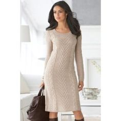 Chadwicks Cable-Knit Sweaterdress (Apparel) #sweater dresses #sweater #dresses