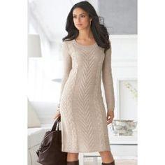 Chadwicks Cable-Knit Sweaterdress (Apparel) #sweater dresses #sweater #dresses #shop #women dresses