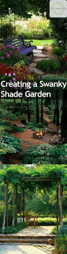 Nothing is more impressive than a shade garden full of lush greens and statement plants. And nothing is more pleasant on a hot summer day than sitting in the shade of your own garden. If you're longing for a piece of paradise that... #easywaystocreatebackyardshade #gardens #howtocreateashadegarden