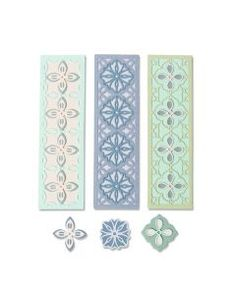 Pack of 6 Sizzix Framelits Wrappers//Fancy Die Set