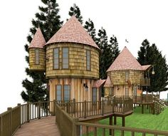 Hogwarts-inspired tree house that JK Rowling is building for her children.