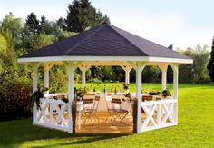Diy Pergola, Patio Gazebo, Garden Gazebo, Pergola With Roof, Wooden Pergola, Pergola Shade, Terrace Garden, Pergola Ideas, Outdoor Gazebos