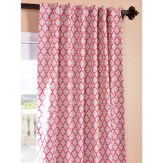 Casablanca Rose Rod Pocket Blackout Curtain Panel | Overstock.com Shopping - The Best Deals on Curtains