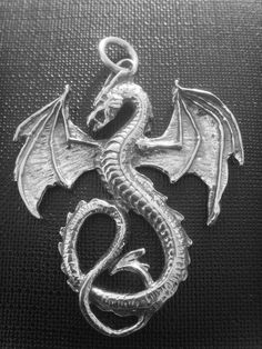 Large Sterling Silver Detailed Dragon Pendant by silver999 on Etsy, $37.99 Love this!