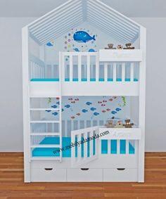 Green Girls Rooms, Little Girl Rooms, Kids Room Design, Home Room Design, Loft Bed Plans, Bunk Beds With Drawers, Bunk Bed Designs, Cool Beds, Kid Beds