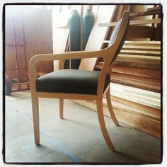 Contemporary chair in maple by Black Canyon Woodworks.  www.blackcanyonwoodworks.com