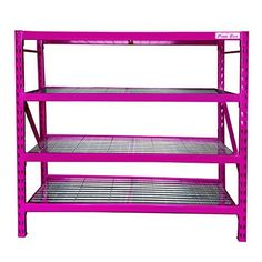 The Original Pink Box 4 Tier Storage Rack 72 inch Pink Pink Tool Box, Pink Power, Storage Rack, Craft Storage, Everything Pink, My Favorite Color, Pretty In Pink, Hot Pink, At Least