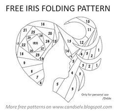 Cand.Selv: Iris folding skabeloner