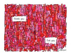 Thank You For You! | Gapingvoid Art | Printed on acid free, textured fine art paper 330 gsm