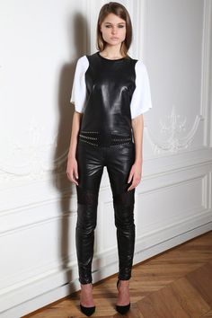 @roressclothes clothing ideas #women fashion black leather Zuhair Murad Fall 2014-2015 Collection