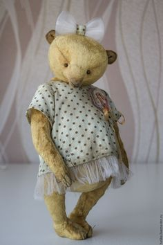 Купить Девочка))) - бежевый, мишки тедди, мишка, тедди, теддик, медвежонок, игрушка ручной работы