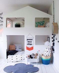 Bom dia! Ideia charmosa para o espaço dos pequenos. http://ift.tt/1oztIs0 Pinterest: http://ift.tt/1Yn40ab |Imagem não autoral|