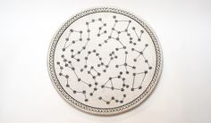 Constellation Platter- Stoneware. 16""