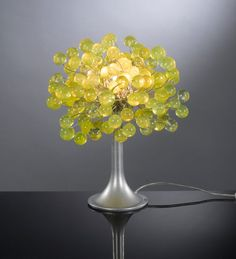 Table lamp with lemon green bubbles by yehudalight on Etsy, $219.00