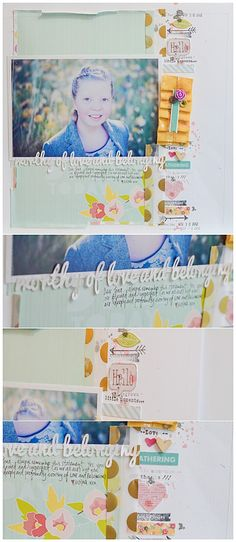 love the layered pieces along the right of the page. (layout. Wilna Furstenberg)